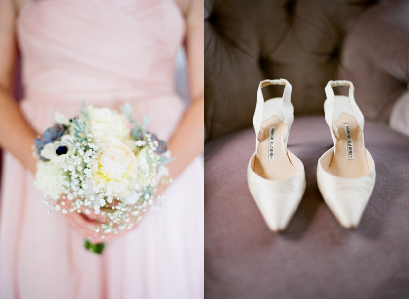 asian-art-museum-wedding-bouquet-and-shoes
